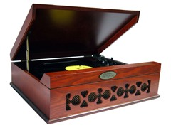 Vintage Style Turntable with USB-To-PC