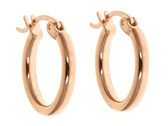18kt Rose Gold Plated 20mm Huggies