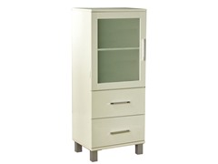 TMS Frosted Pane Two Drawer Linen Cabinet