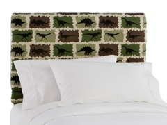 Upholstered Headboard Rex Camo Green