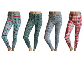 4 Pack:Printed Cotton Leggings