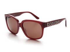 Pink Sunglasses w/ Studs and Plum Lens