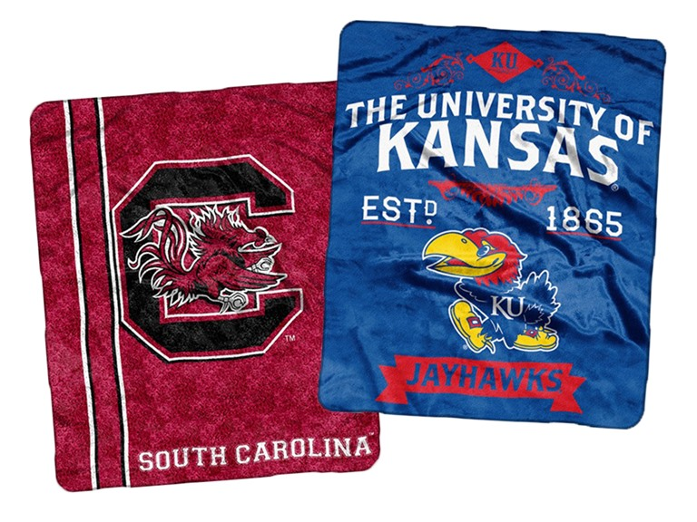 Comfy Collegiate Blankets!