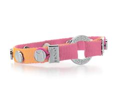 Charm Bracelet - Orange w/ Pink