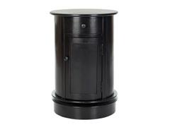Tabitha Oval Cabinet  Black