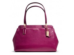 Madison Leather Kimberly Carryall, Cranberry
