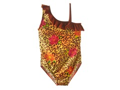 Leopard Flower One-Piece Swimsuit