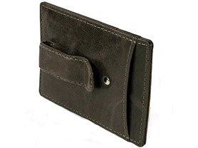 Hammer Anvil RFID SAFE Minimalist Money Clip Front Pocket Wallet, Gray