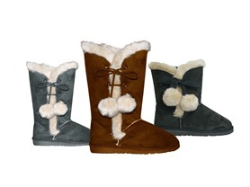 "Women's Microfiber SideTie Boots,9""or13"""