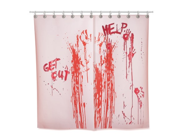 Color Changing Bloody Shower Curtain
