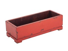 Red Long Harper Planter