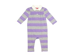Purple Stripe Coverall (3-6M)