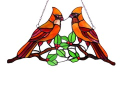Cardinal Window Panel/ Suncatcher