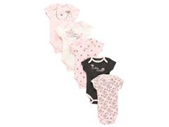 Calvin Klein 5-Pack Bodysuit - Pink Dressy