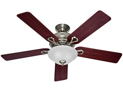 52-Inch Incandescent Ceiling Fan, Nickel
