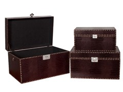 Dark Brown Crocodile Chest