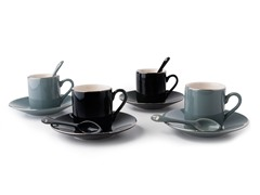 Espresso Set with Spoons for 4