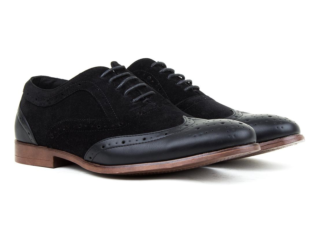 Harrison Men's Two-Tone Wingtip Dress Shoes