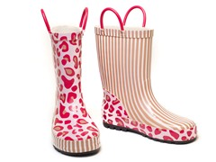 Tabby Cheetah Rain Boots - Tod 5-Youth 5
