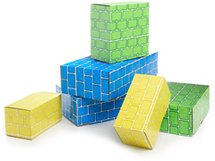60-Piece Cardboard Blocks