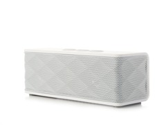 Bluetooth Stereo Speaker w/ Mic - White