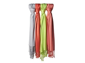 4-Pack Jones New York Satin Pashminas
