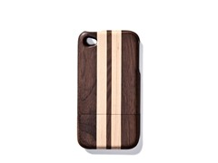 Walnut Lt. Stripes Cover for iPhone 4/4S