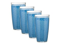Kraftware 22oz Doublewall Drinkware 4pc 4 Colors