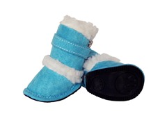 Blue Shearling Duggz Shoes