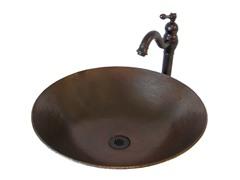 Round Vessel w/ Faucet, Bronze