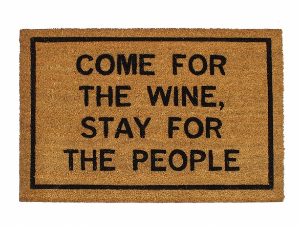 Clever doormats come for the wine stay for the people - Clever doormats ...