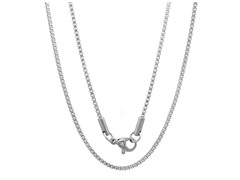 "Stainless Steel 18"" Box Chain"