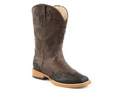 Roper Square Toe Boot W/ Pistol (9 Tod - 3 Kids)