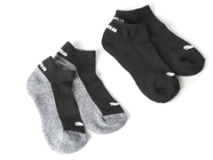Puma Boys Low Cut Black Socks 6-Pack