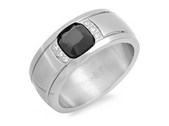 Men's Ring w/ Black Simulated Diamond