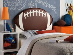 Upholstered Football Headboard- Twin