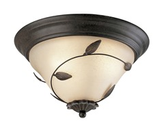 3-Light Fixture, Forged Bronze