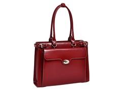 "Winnetka Leather Ladies' 15.4"" Briefcase w/ Sleeve"