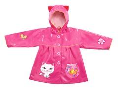 Lucky Cat Raincoat (2T-6X)
