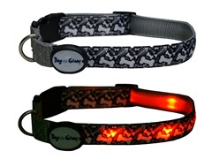 Dog-e-Glow Fishbones LED Lighed Collar - Large