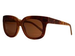 Cianna Wayfarer Sunglasses, Bronze Snake