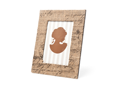 French Burlap Photo Frames - 4x6 or 5x7""