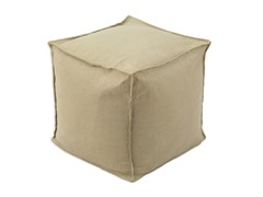 "Chooty Circa Solid Barley 17"" Square Pouf"