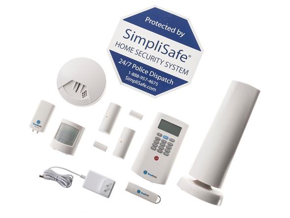 simplisafe2 wireless home security 8 pieces. Black Bedroom Furniture Sets. Home Design Ideas