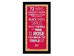 "Chicago Bulls 9.5"" x 19"" Sign"