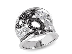 0.20cttw Black Diamond Ring