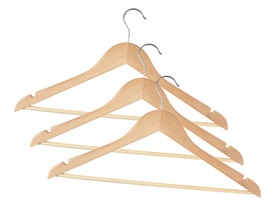 Household Essentials Wood Hangers - 72pc
