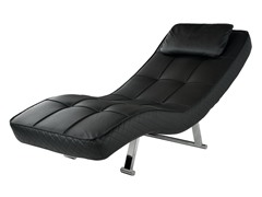 Abbyson Living Capri Black Euro Chair