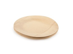 "Luxeware Bamboo Plates 9"", Set of 8"