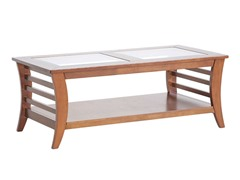 Allison Coffee Table w/Glass Inlay
